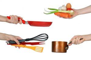 Kookgerei die te gebruiken is bij werkvorm