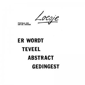 Loesje poster van workshop