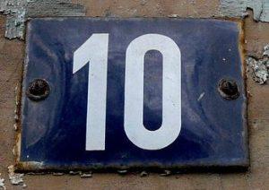 Huisnummer 10
