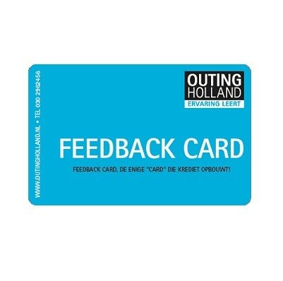 Voorkant FeedBack card