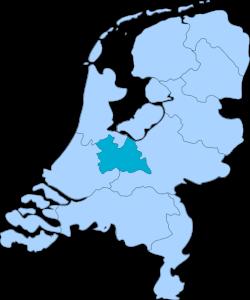 Kaart van Nederland - provincie Utrecht
