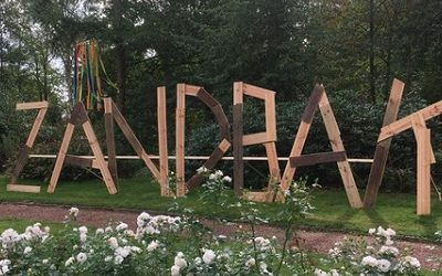 Zandbak letters van hout