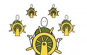Leiderschap van passagier naar bemanningslid