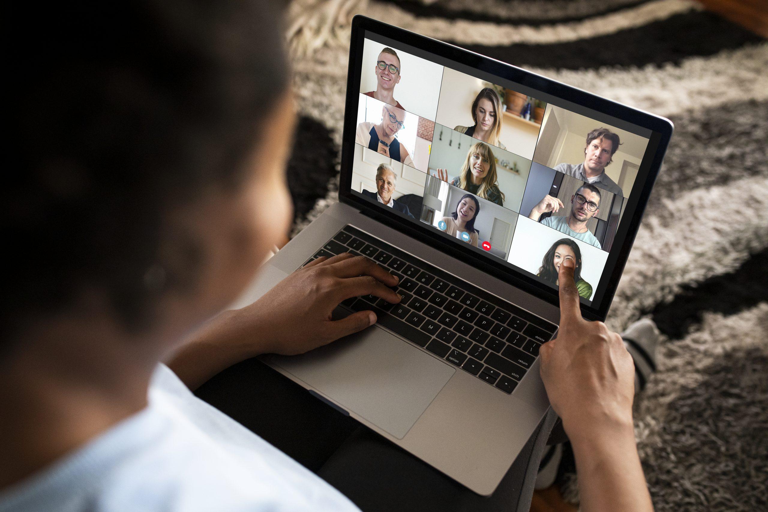 Online teambijeenkomst
